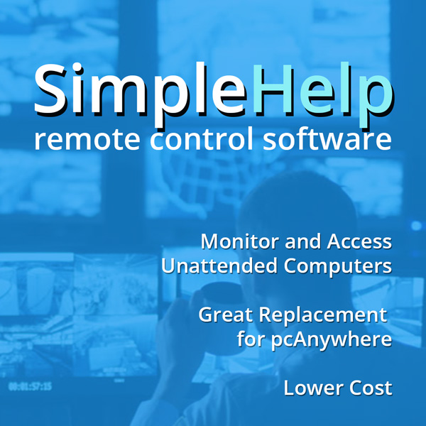 control and view all your unattended machines SimpleHelp netx