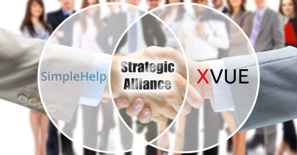 simplehelp xvue join forces to form strategic alliance