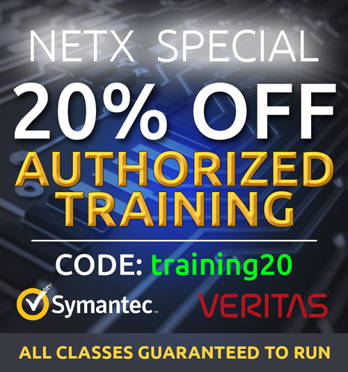 Get 20% OFF all Veritas training and Symantec training