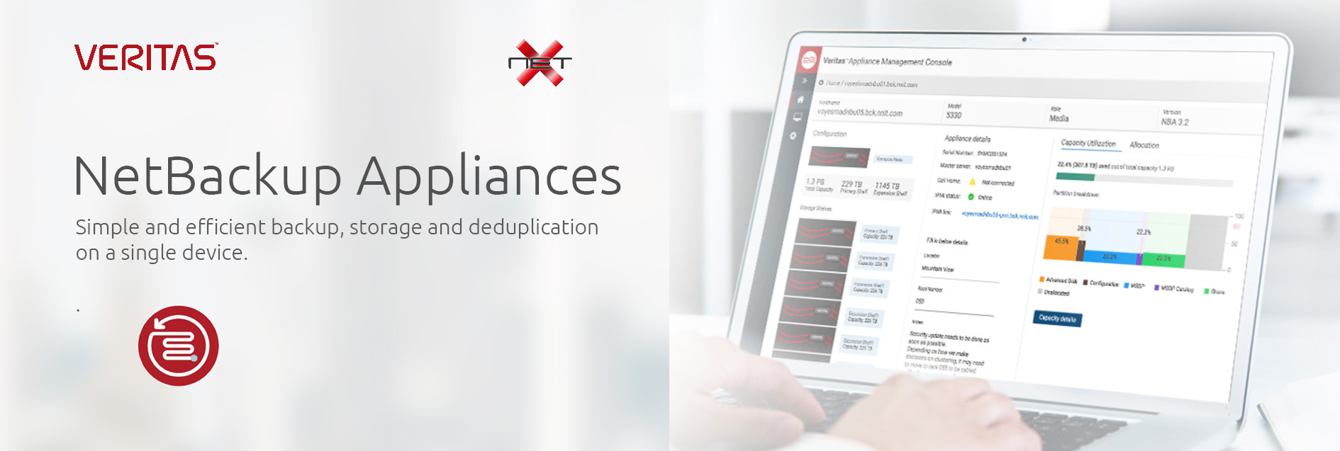 Veritas NetBackup Appliances with Netx Banner