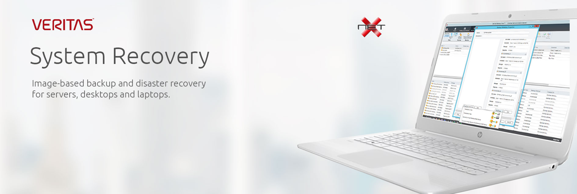 veritas system recovery with netx professional services banner