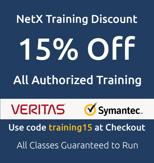 NetX 15% off training banner