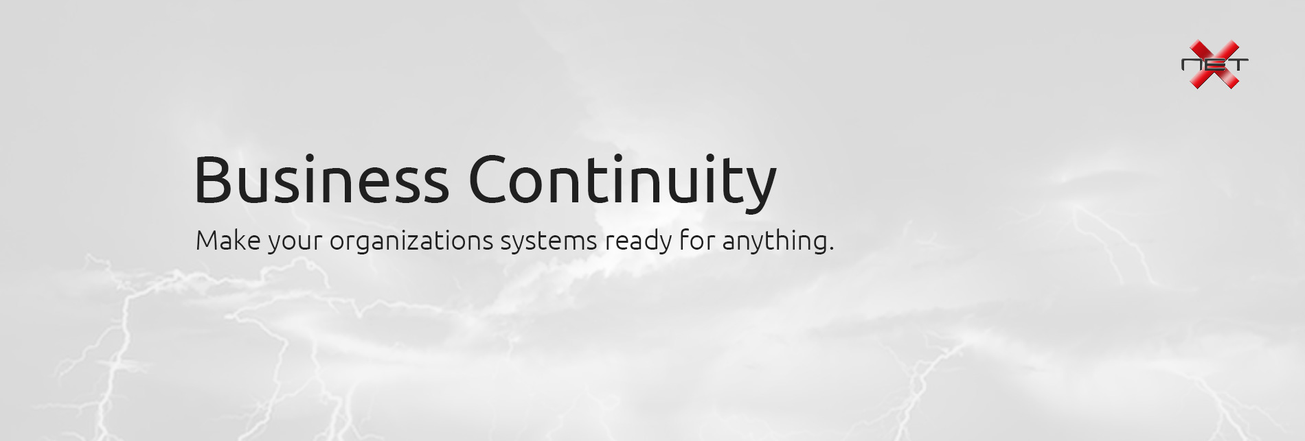 Business Continuity by NetX Information Systems