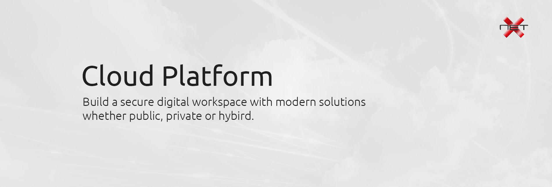 Cloud Platform - NetX Information Systems Banner