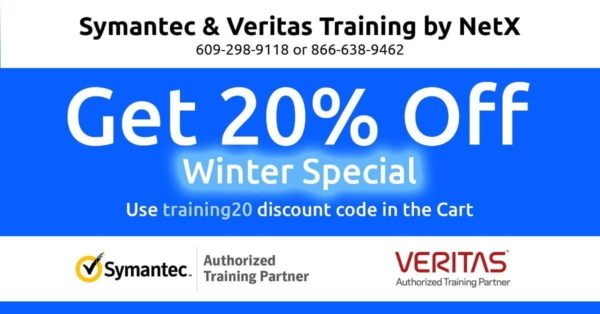 NetX Winter Special Discount on Veritas and Symantec Training