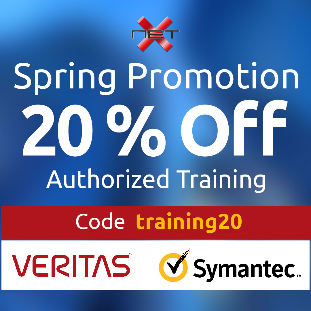 NetX Veritas and Symantec Spring discount promotion