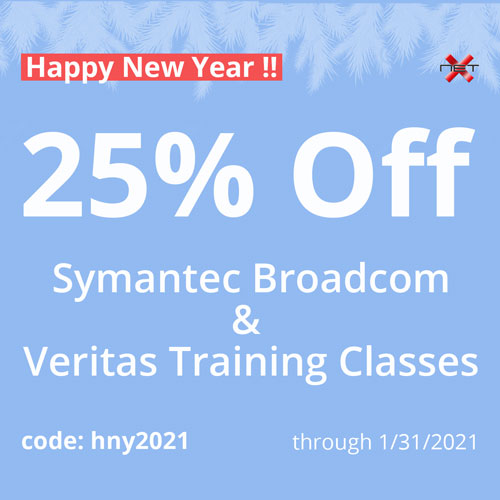 NetX 2021 discount for Veritas and Symantec Broadcom courses