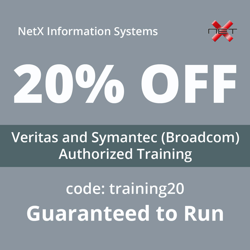 NetX 2021 Promotion for Veritas and Symantec Broadcom courses